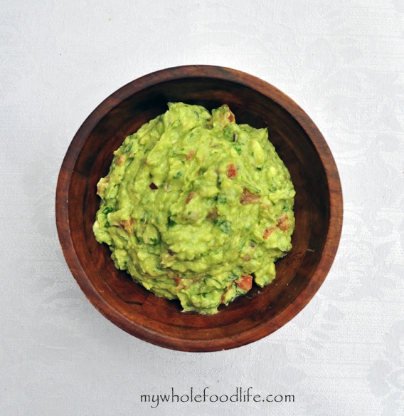 Homemade Guacamole with Roasted Tomatillos and Chipotle Peppers - My Whole Food Life