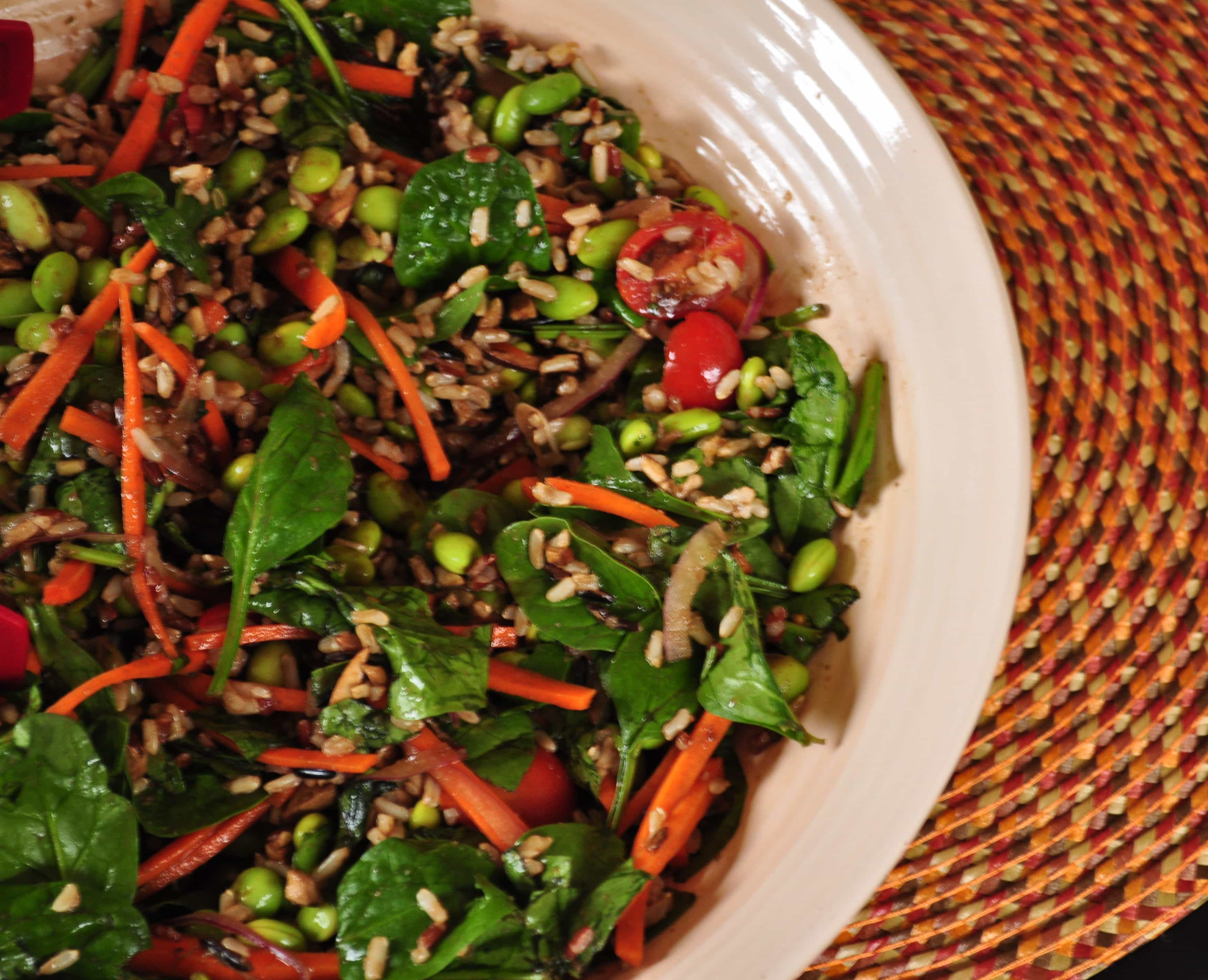 Spinach-and-Wild-Rice-Salad