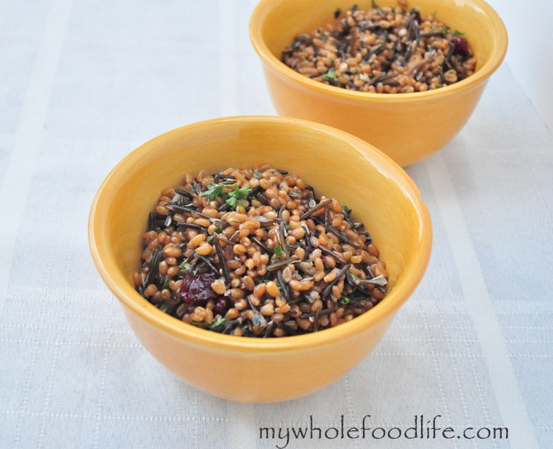 Wheat Berry Salad with Cranberries - My Whole Food Life