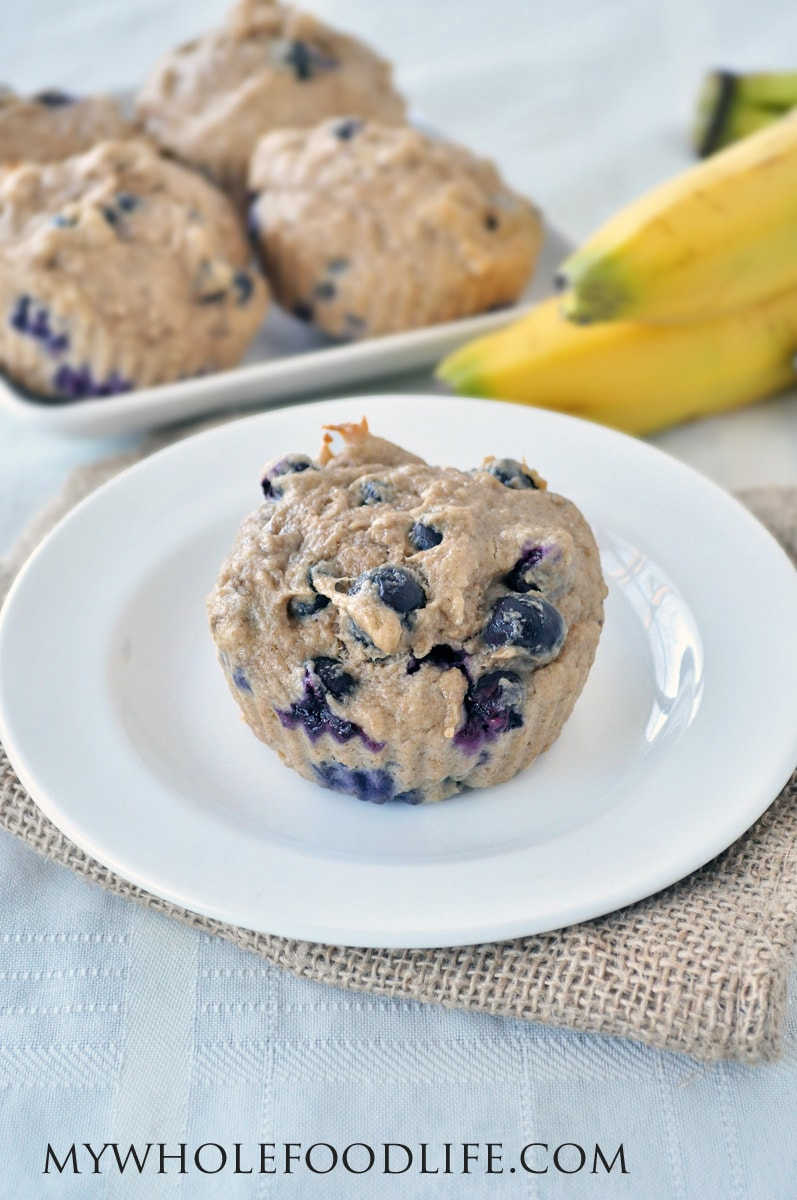 Banana Blueberry Muffins - My Whole Food Life