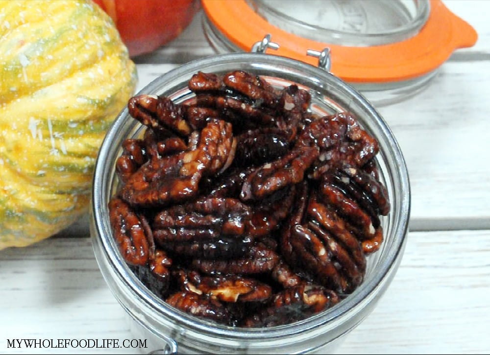 slow cooker maple glazed pecans