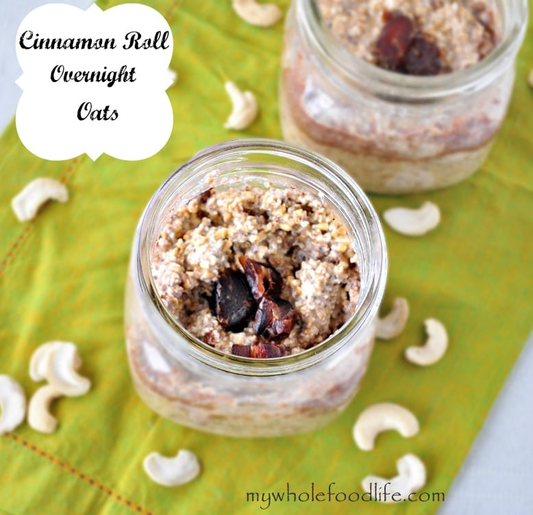 Cinnamon Roll Overnight Oats - My Whole Food Life 1