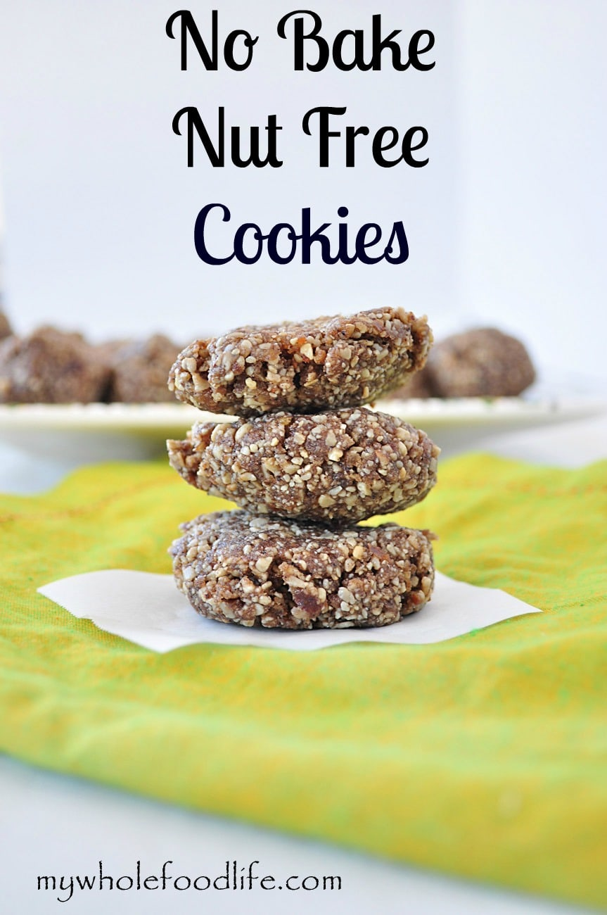No Bake Sunbutter Cookies - My Whole Food Life 1