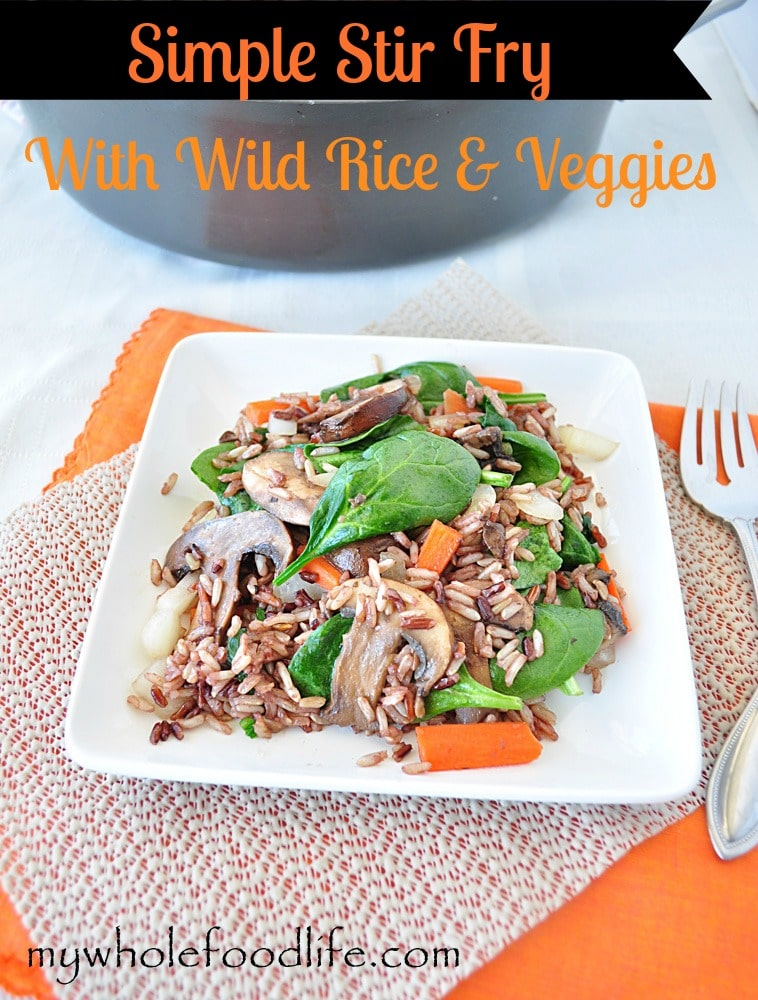 Simple Wild Rice Stir Fry 2 - My Whole Food Life