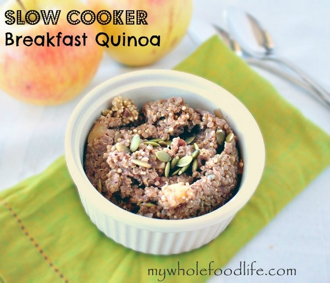Slow Cooker Breakfast Quinoa - My Whole Food Life 1