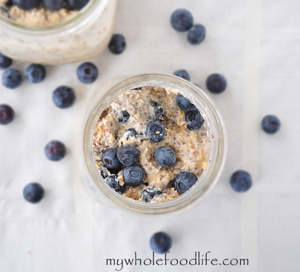 Blueberries and Cream Overnight Oats - My Whole Food Life