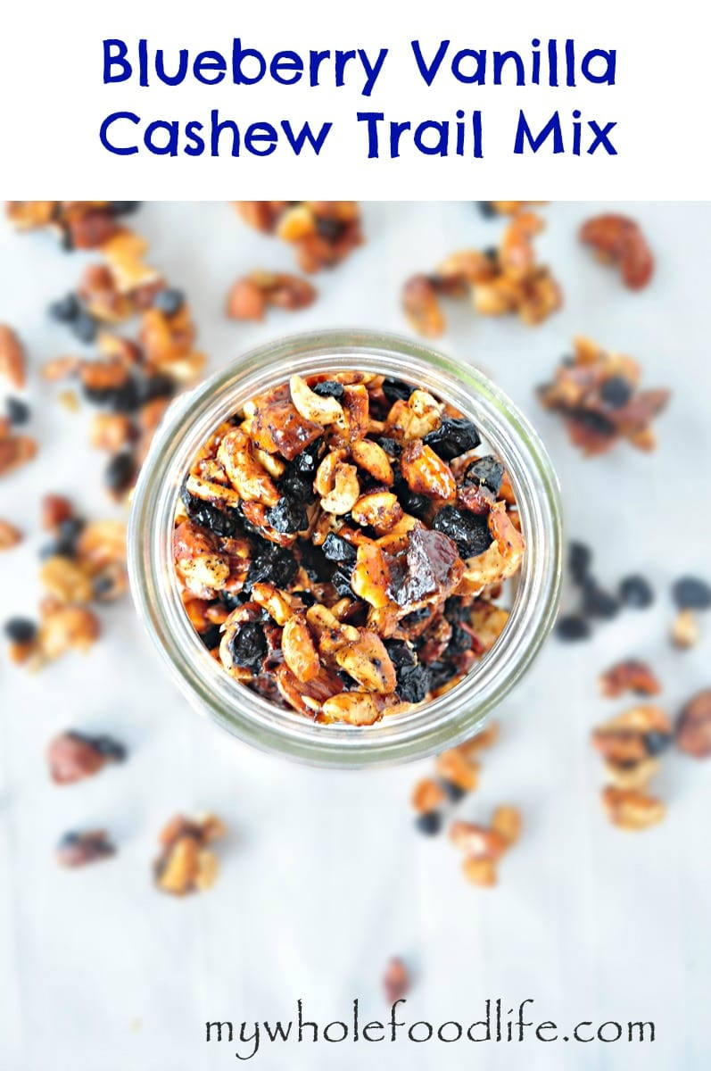 Blueberry Vanilla Cashew Trail Mix 1 - My Whole Food Life