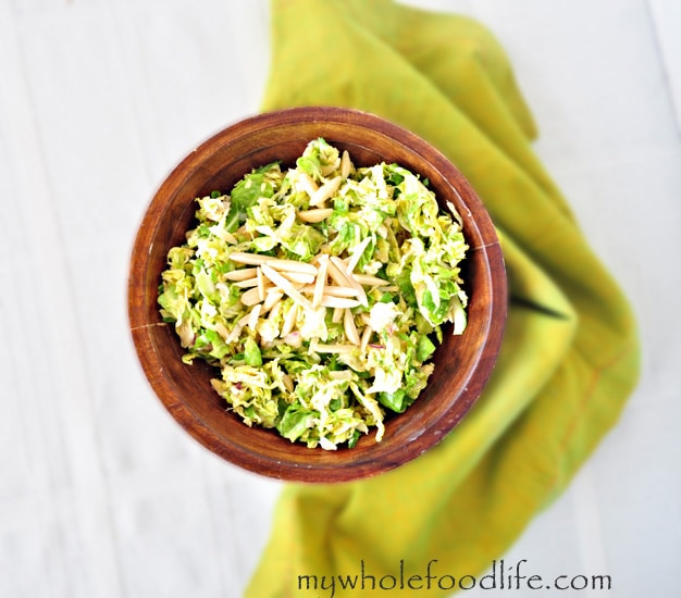 Shaved Brussel Sprout Salad - My Whole Food Life