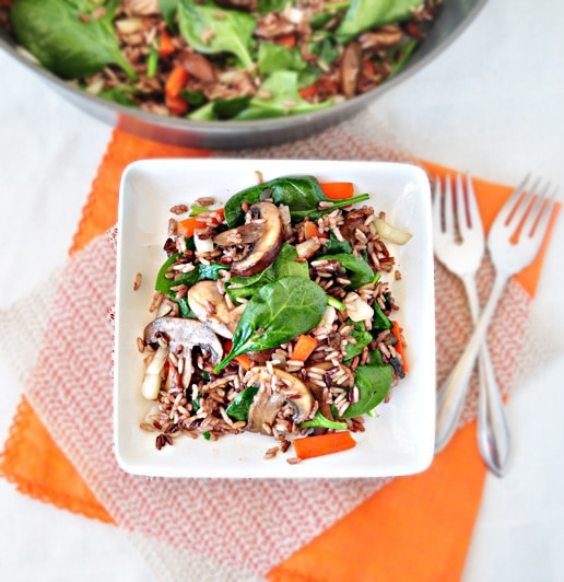Simple Wild Rice Stir Fry