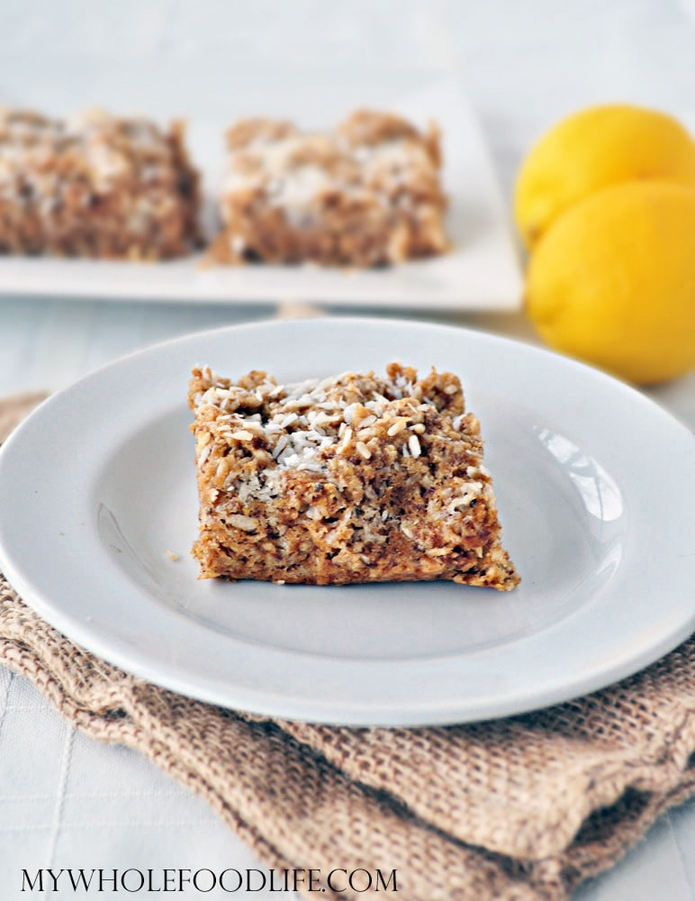 Coconut Lemon Bars - My Whole Food Life