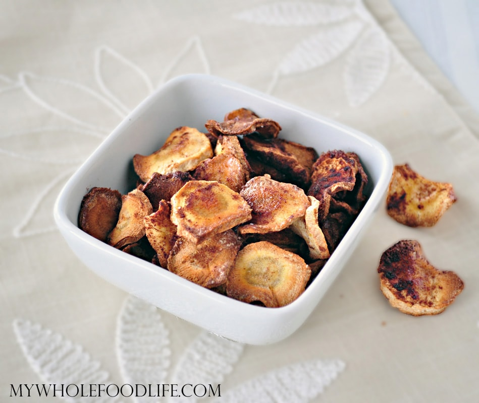 Maple Cinnamon Parsnip Chips - My Whole Food Life