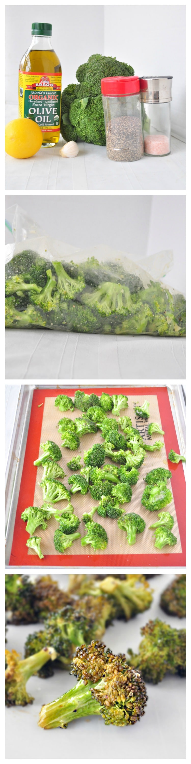Roasted Broccoli Steps