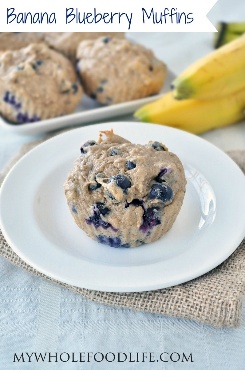 Banana Blueberry Muffins - My Whole Food Life P