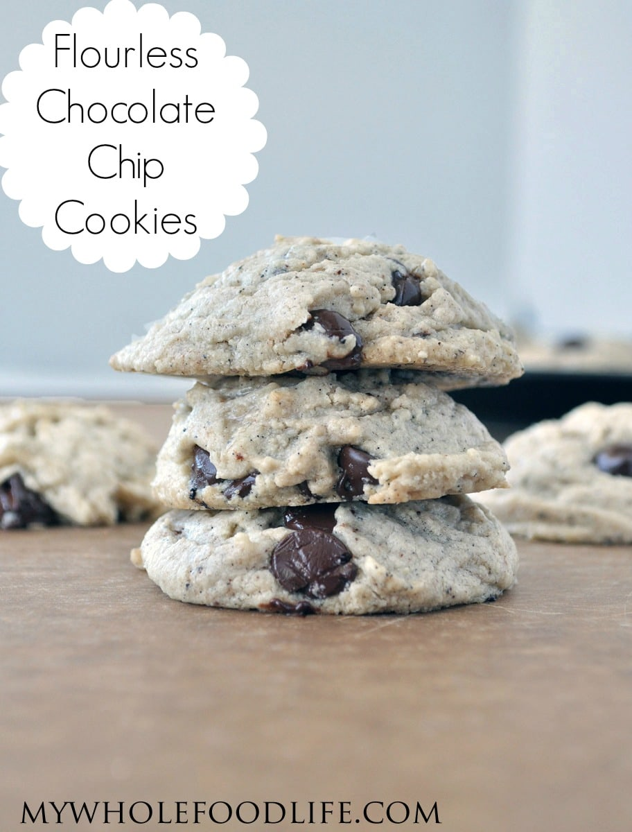 Flourless Chocolate Chip Cookies - My Whole Food Life P