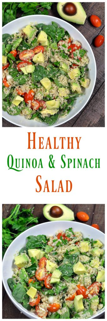 Quinoa Salad with Avocado and Tomatoes