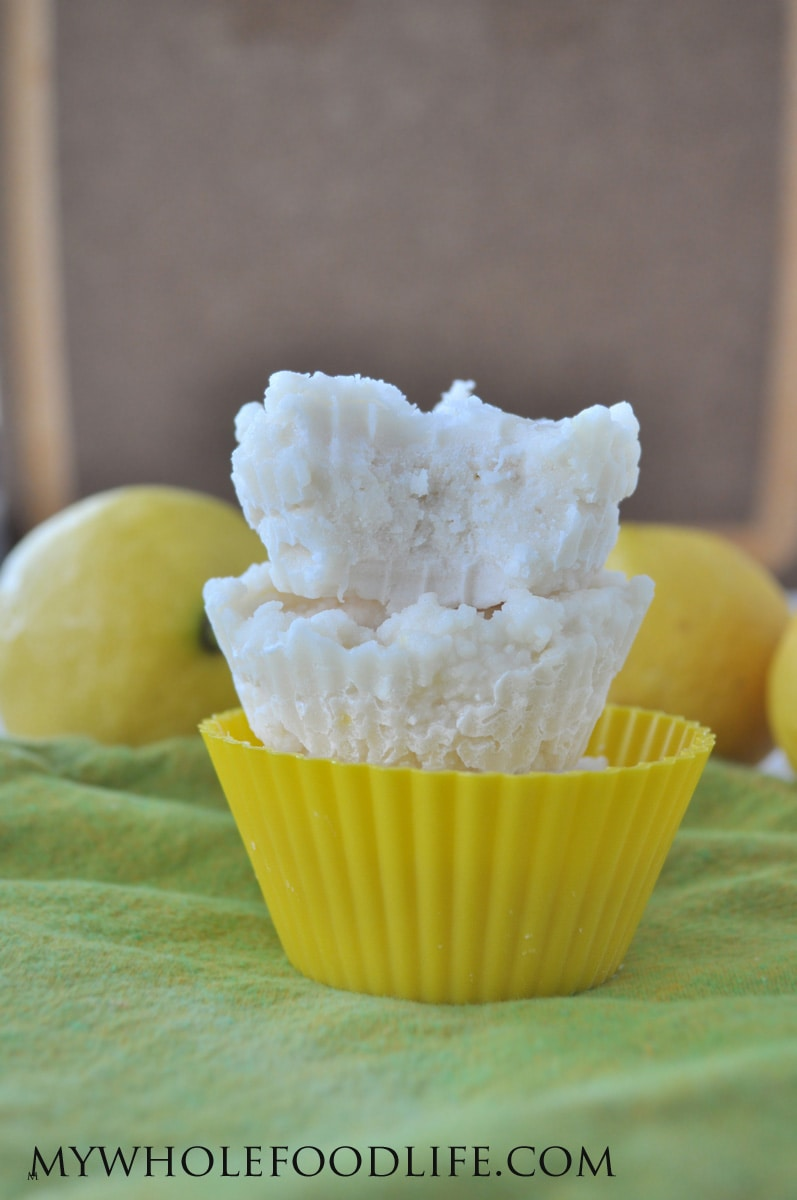 Lemony Coconut Fudge - My Whole Food Life