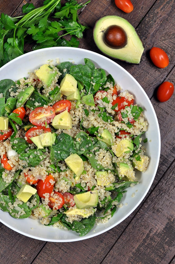 Quinoa Salad With Avocado And Tomatoes My Whole Food Life