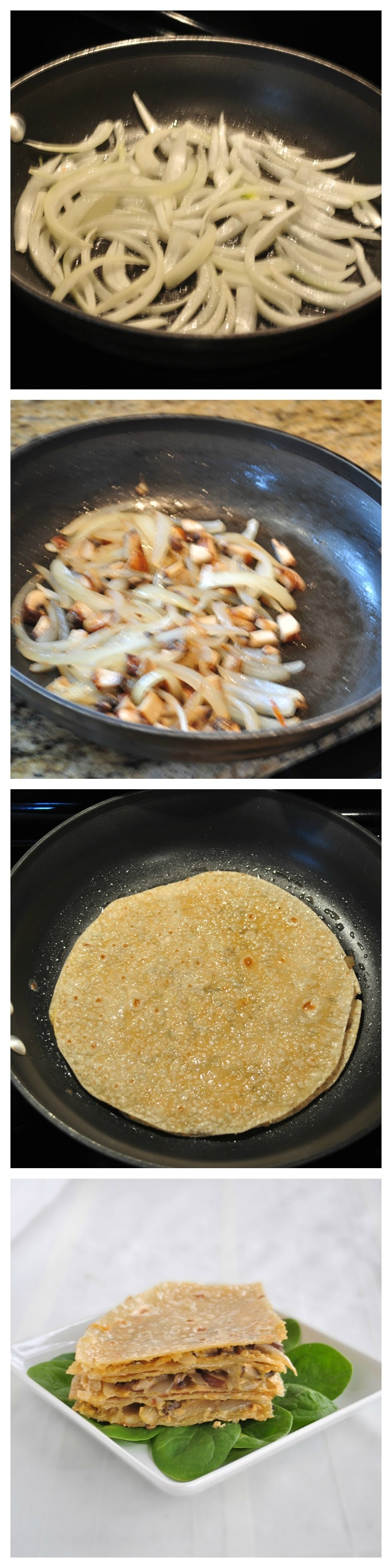 Vegan Quesadillas Steps