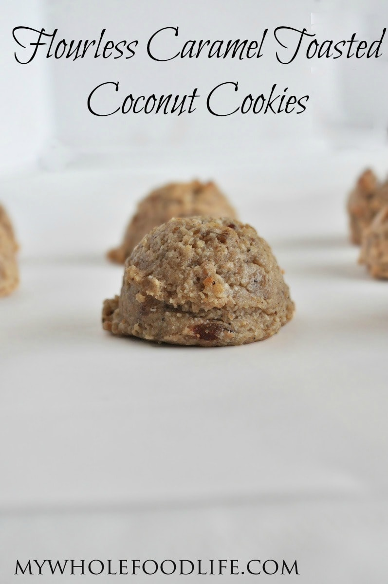 Caramel Toasted Coconut Cookies - My Whole Food Life P