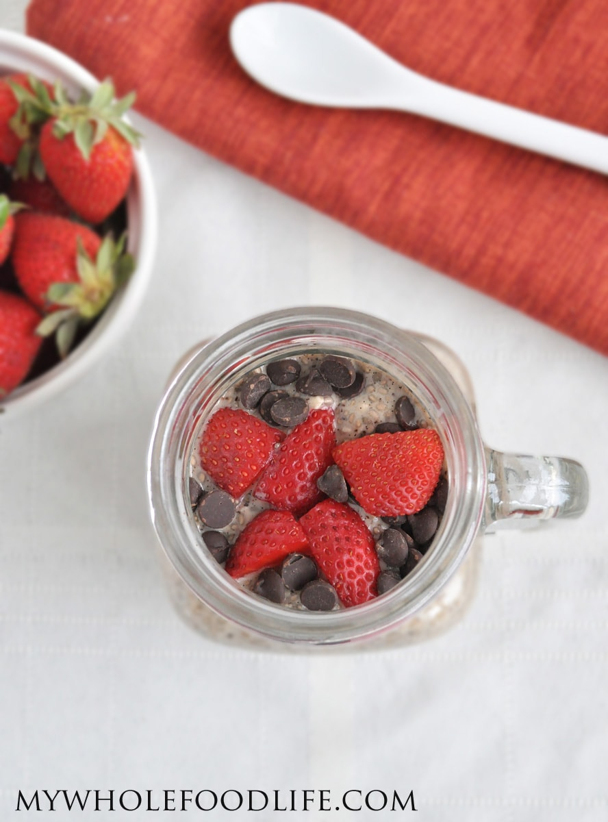 Chocolate Strawberry Chia Pudding