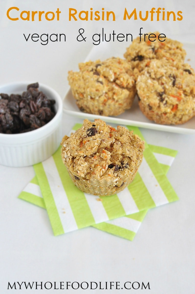 Carrot Raisin Muffins - My Whole Food Life P