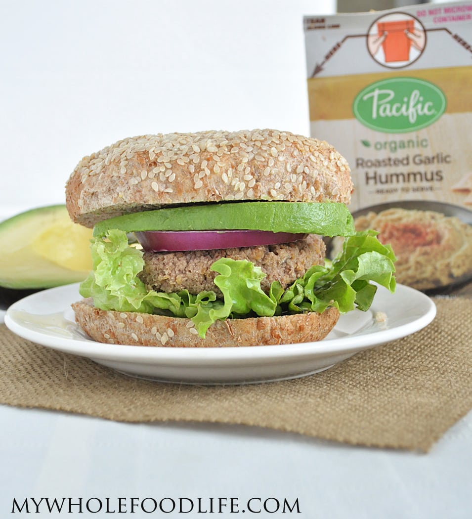Hummus Veggie Burgers - My Whole Food Life