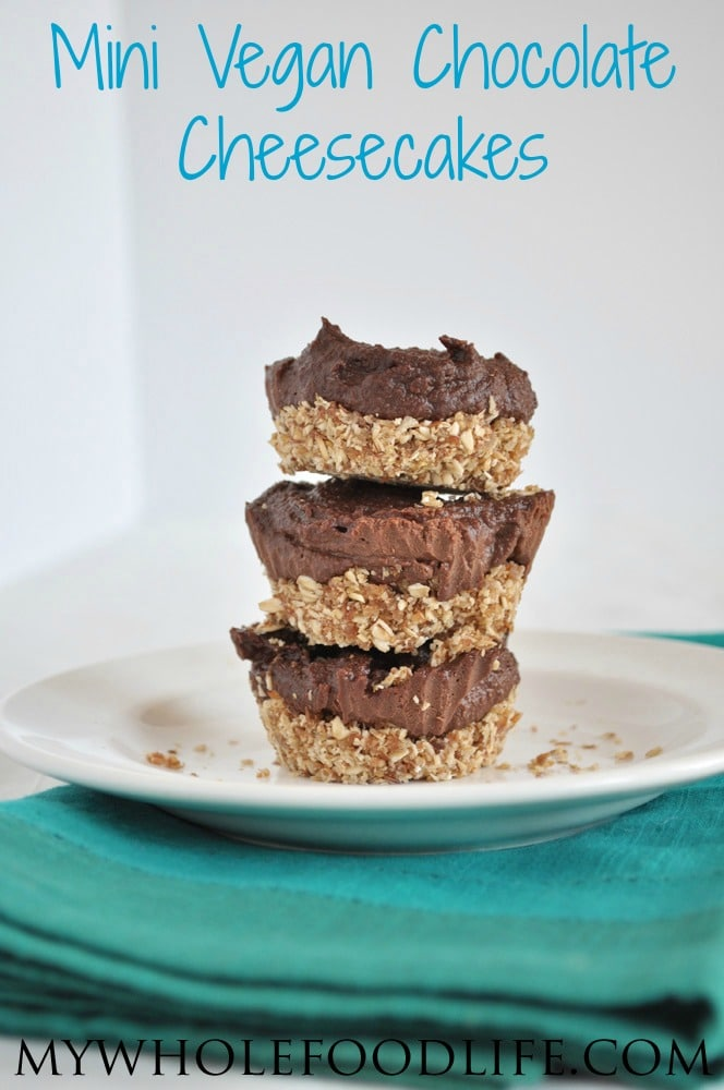 Mini Vegan Chocolate Cheesecakes - My Whole Food Life P