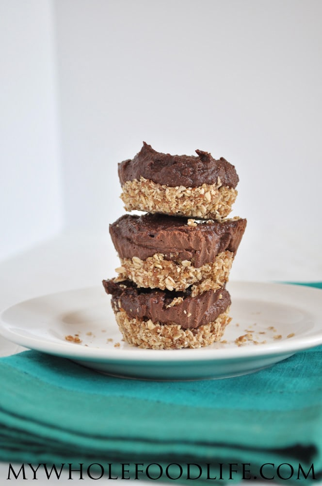 Mini Vegan Chocolate Cheesecakes - My Whole Food Life
