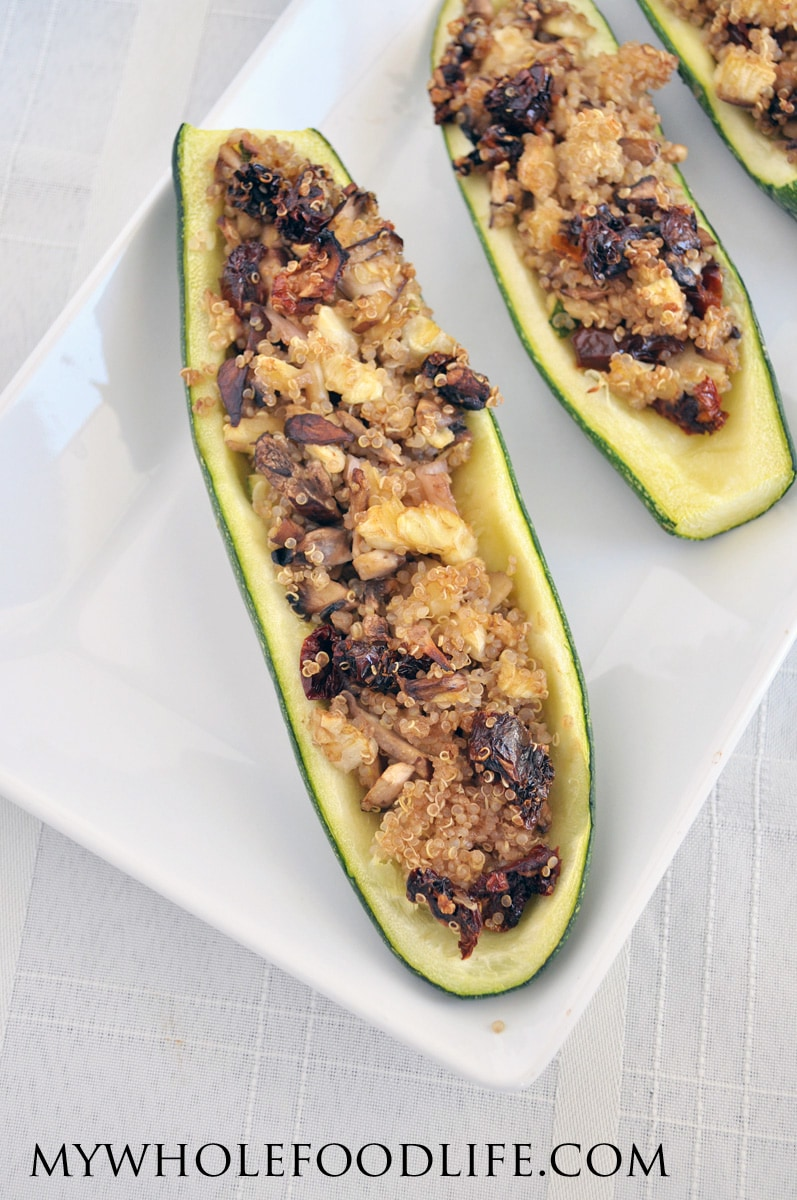 Vegan Zucchini Boats - My Whole Food Life