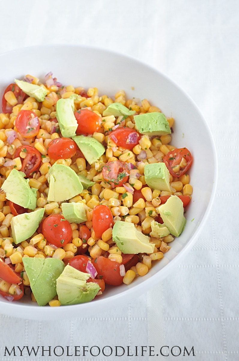 Corn, Tomato and Avocado Salad 2 - My Whole Food Life