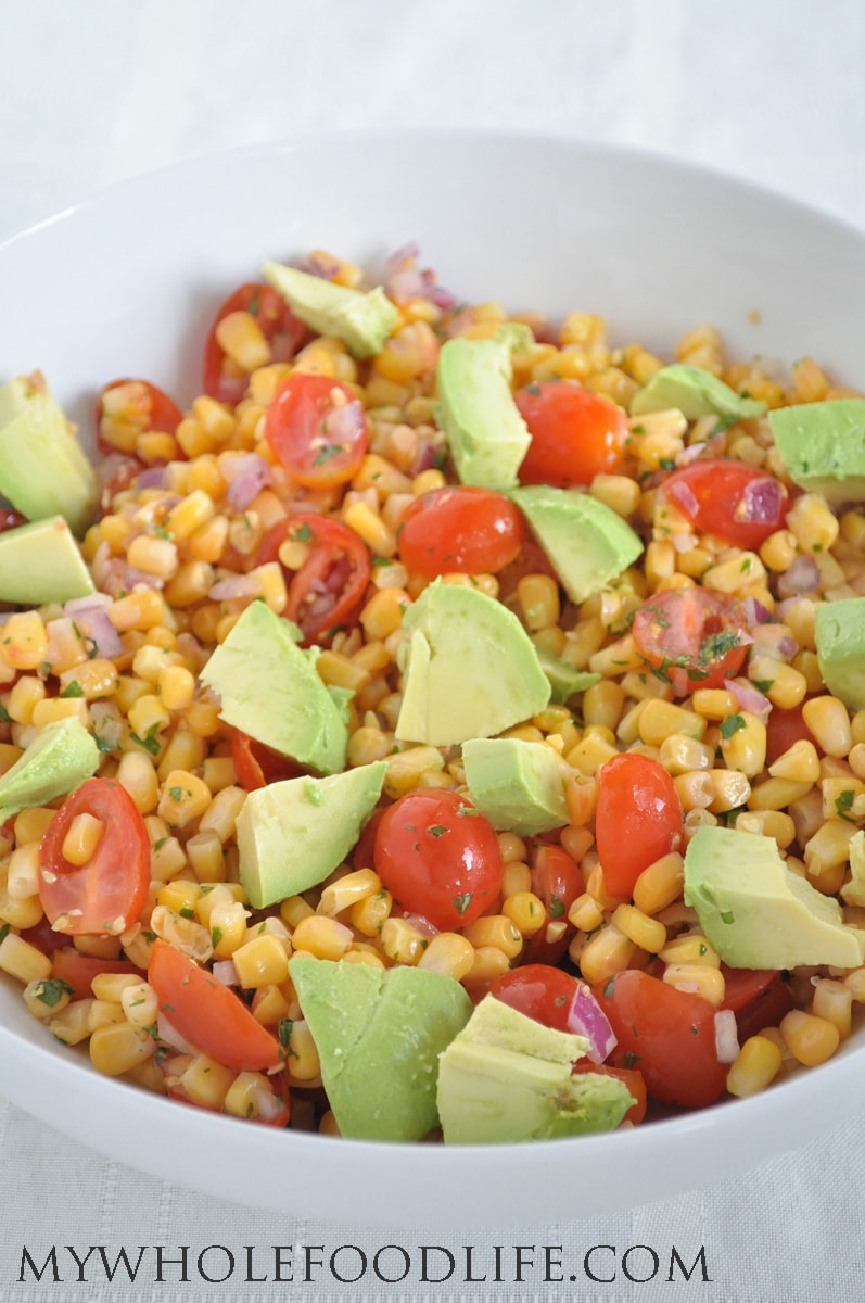 Corn and Avocado Salad - My Whole Food Life