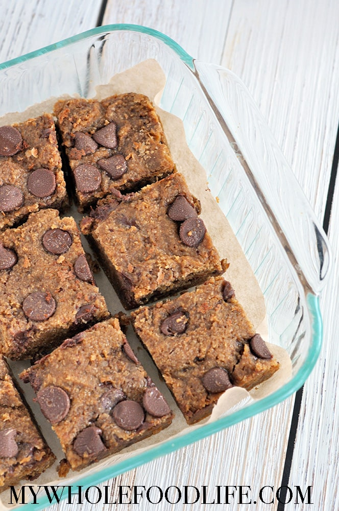 flourless blondies