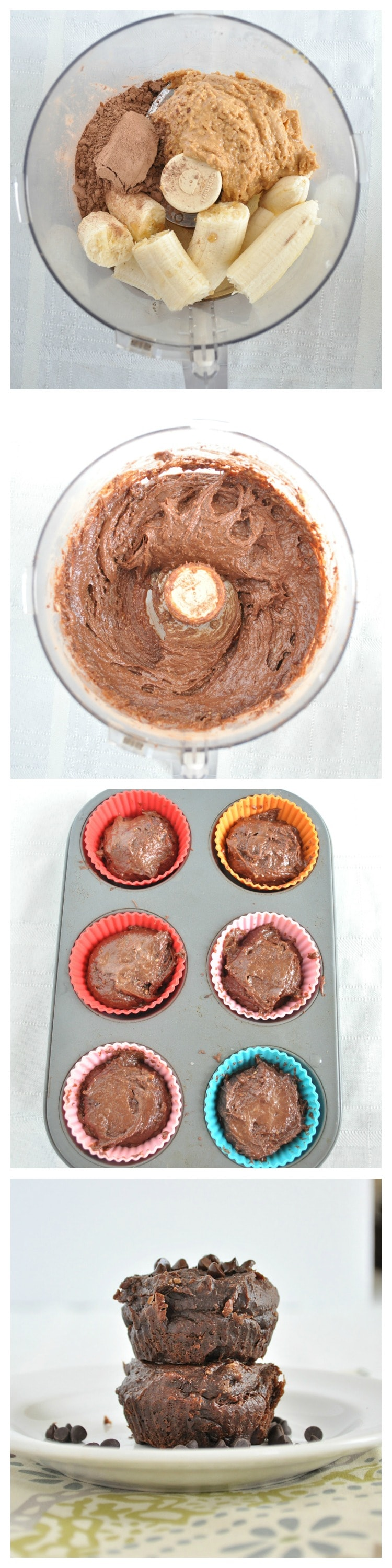 Flourless Chocolate Muffin Steps