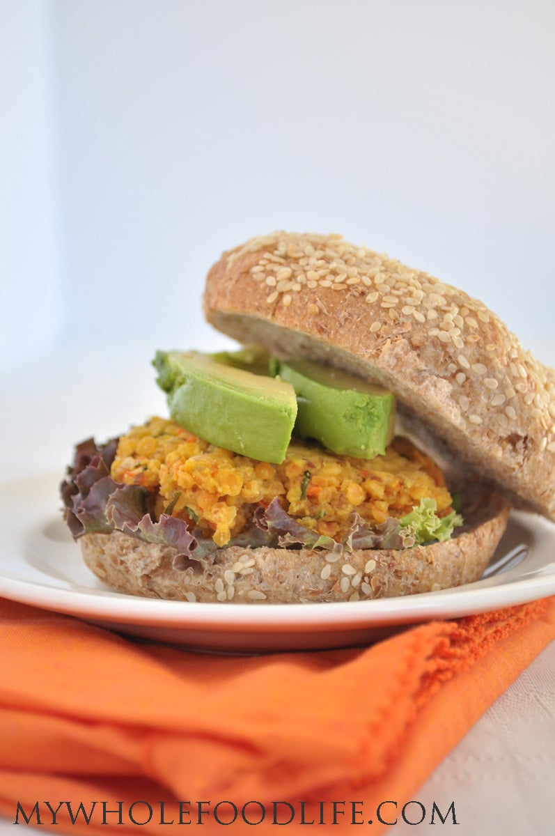 Lentil Carrot Veggie Burgers - My Whole Food Life