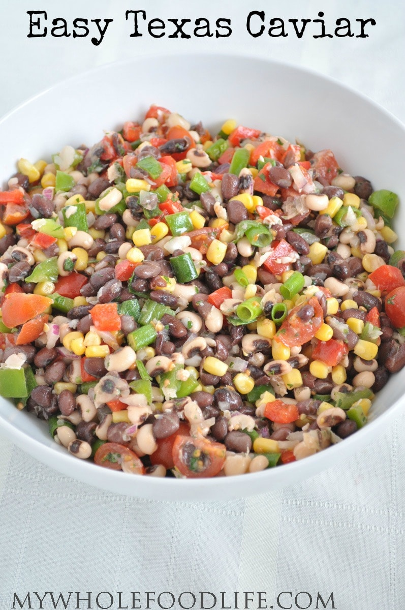 Healthy Texas Caviar - My Whole Food Life P