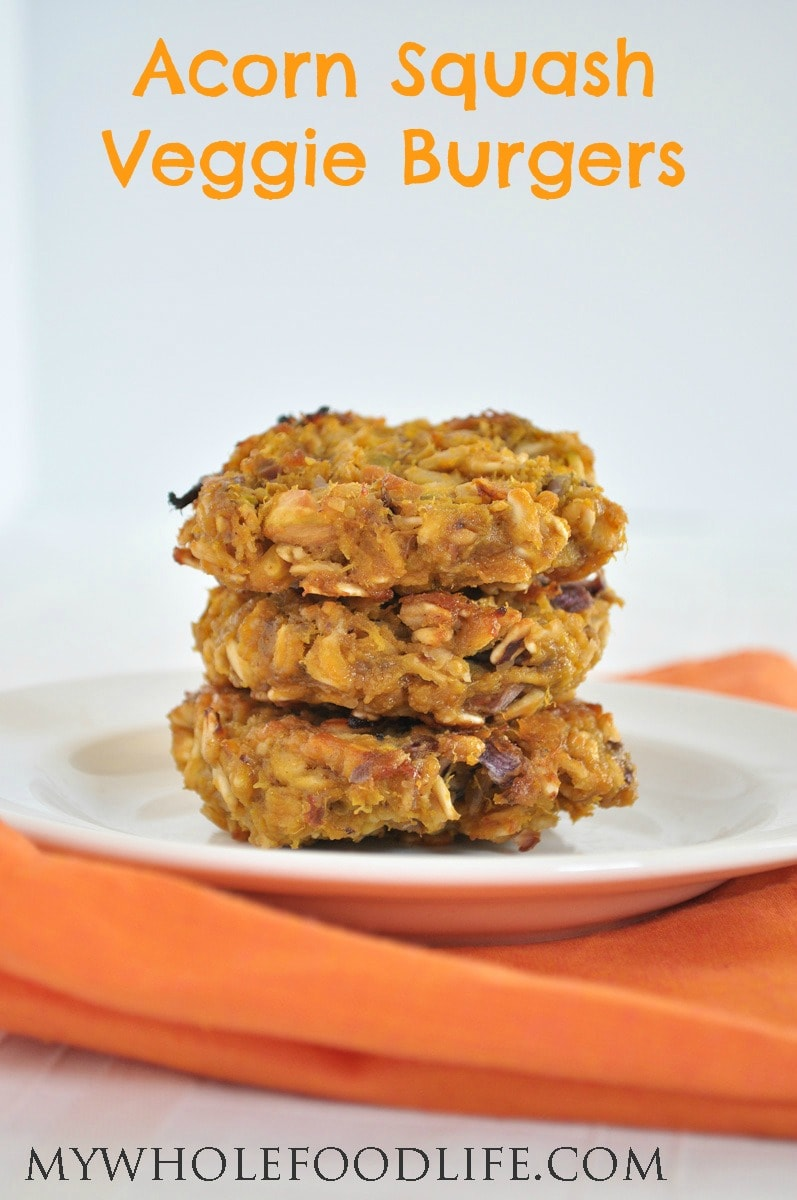 Butternut Squash Veggie Burgers - My Whole Food Life P