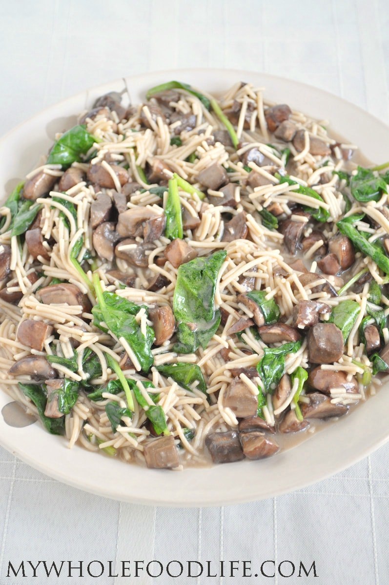 Creamy Spinach Mushroom Pasta 1 - My Whole Food Life