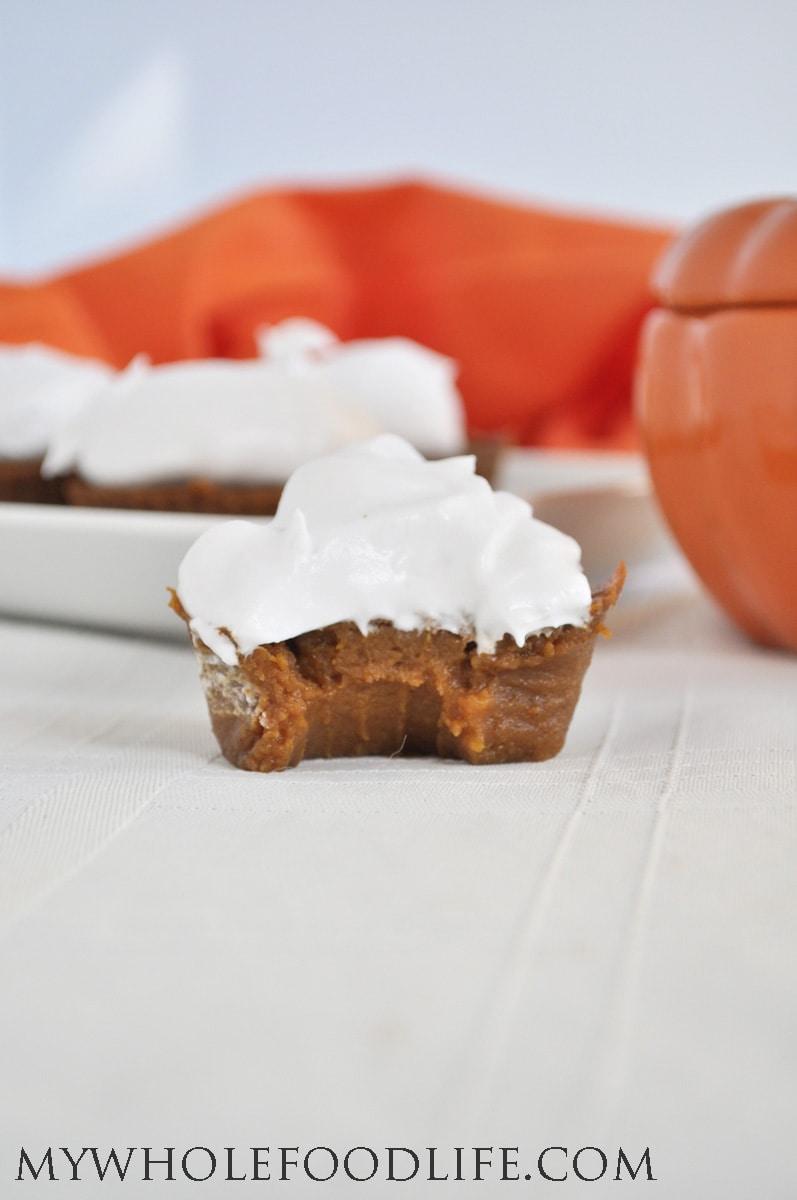 Pumpkin Pie Cupcakes 2 - My Whole Food Life