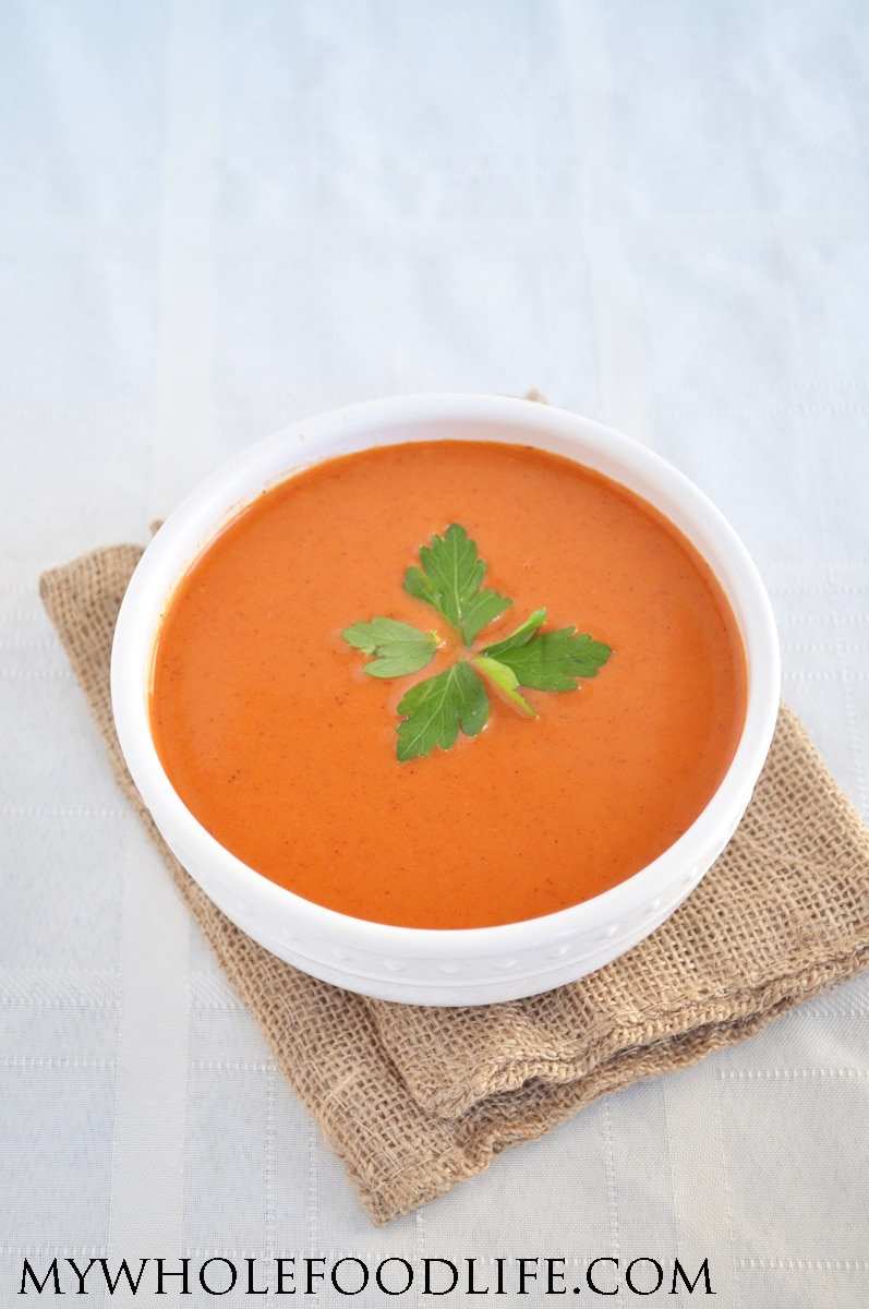 Roasted Red Pepper Soup - My Whole Food Life