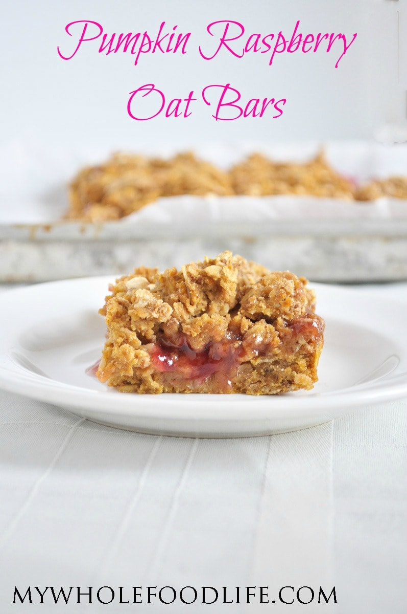 Pumpkin Raspberry Oat Bars - My Whole Food Life P