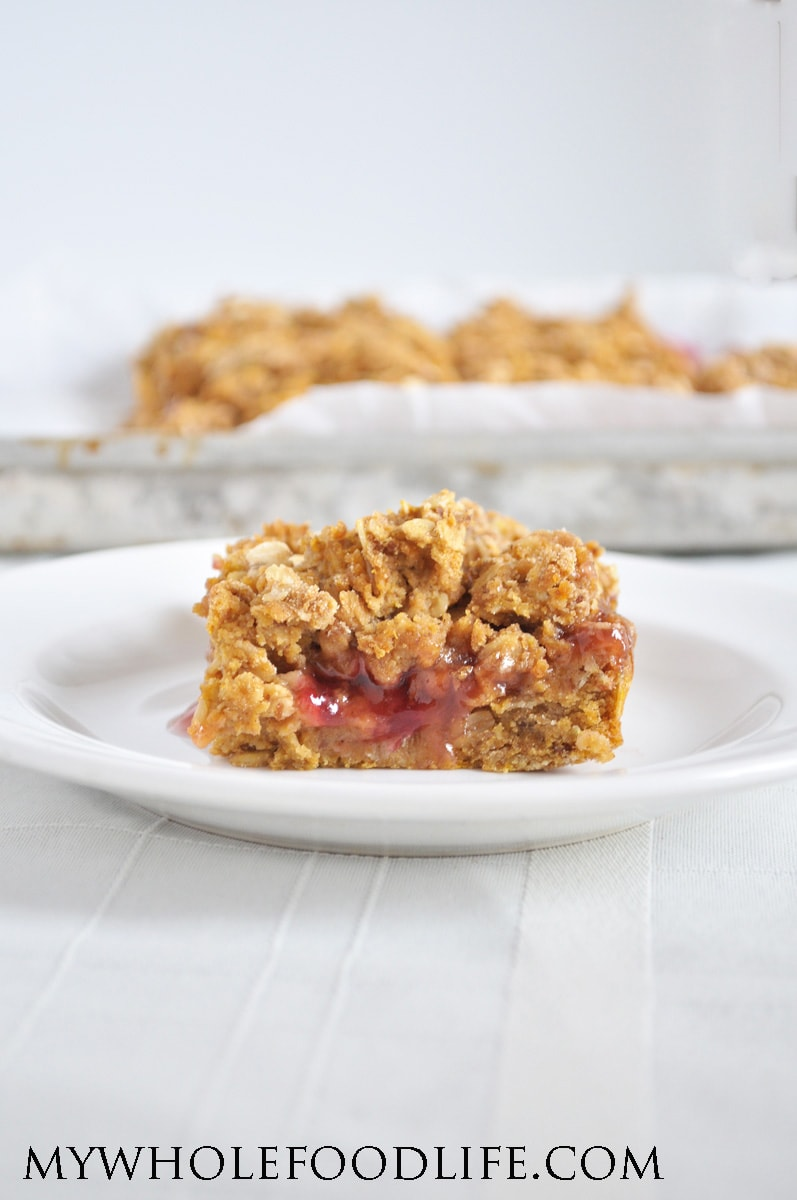 Pumpkin Raspberry Oat Bars - My Whole Food Life