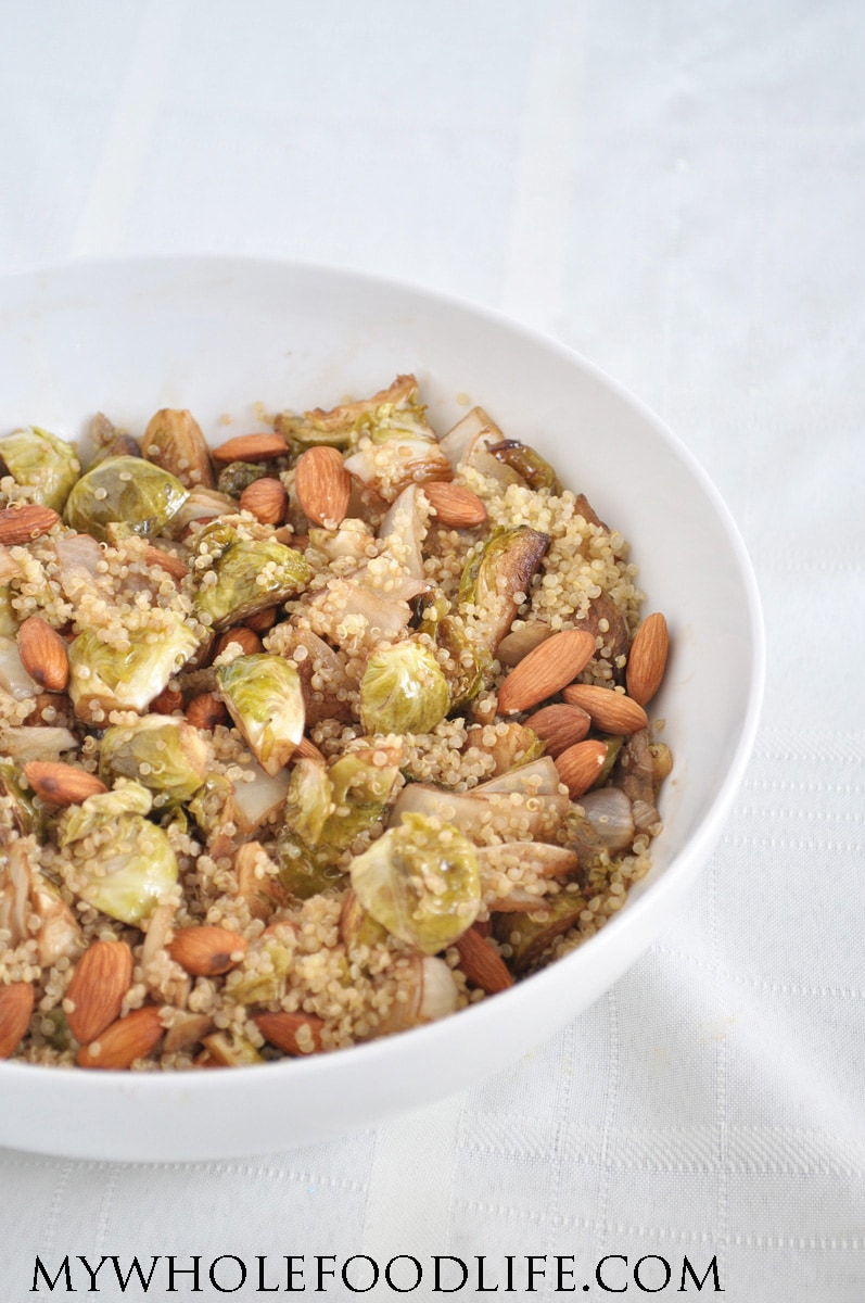 Quinoa and Brussel Sprouts 1 - My Whole Food Life