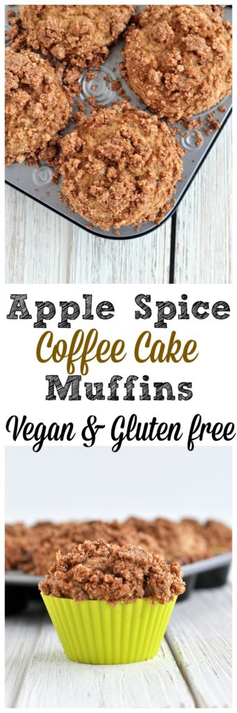 apple spice coffee cake muffins