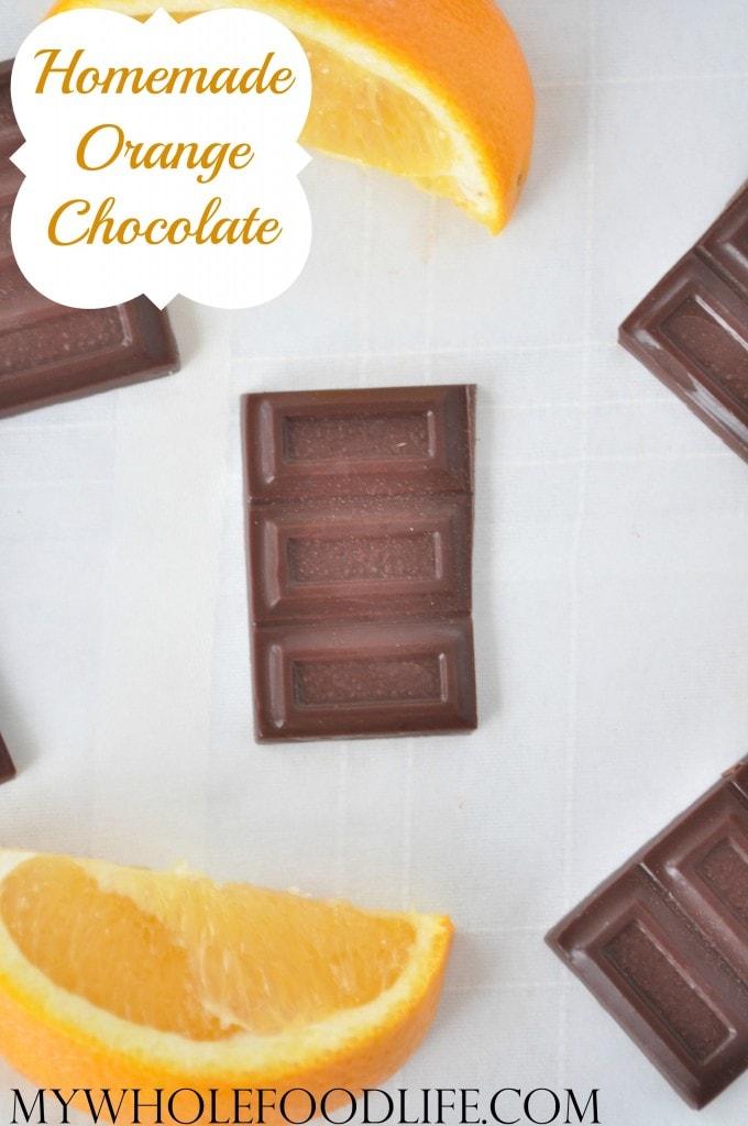 homemade orange chocolate