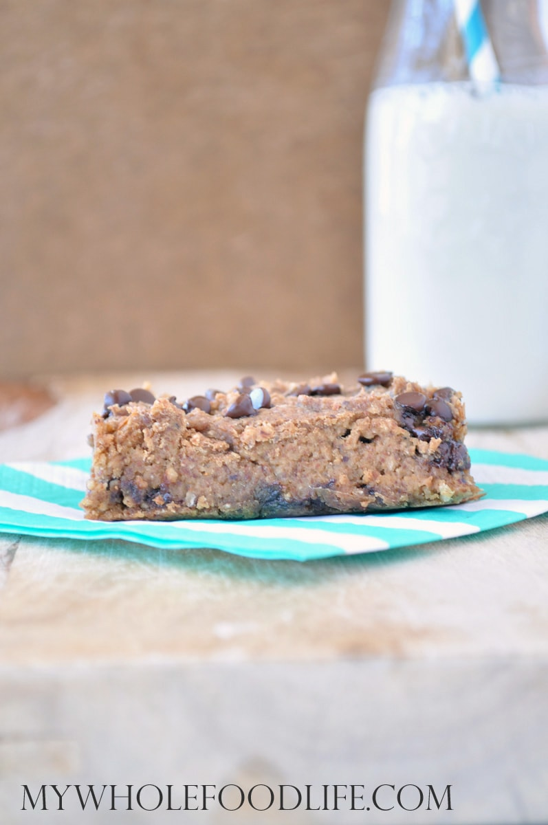 Flourless Almond Joy Blondies - My Whole Food Life