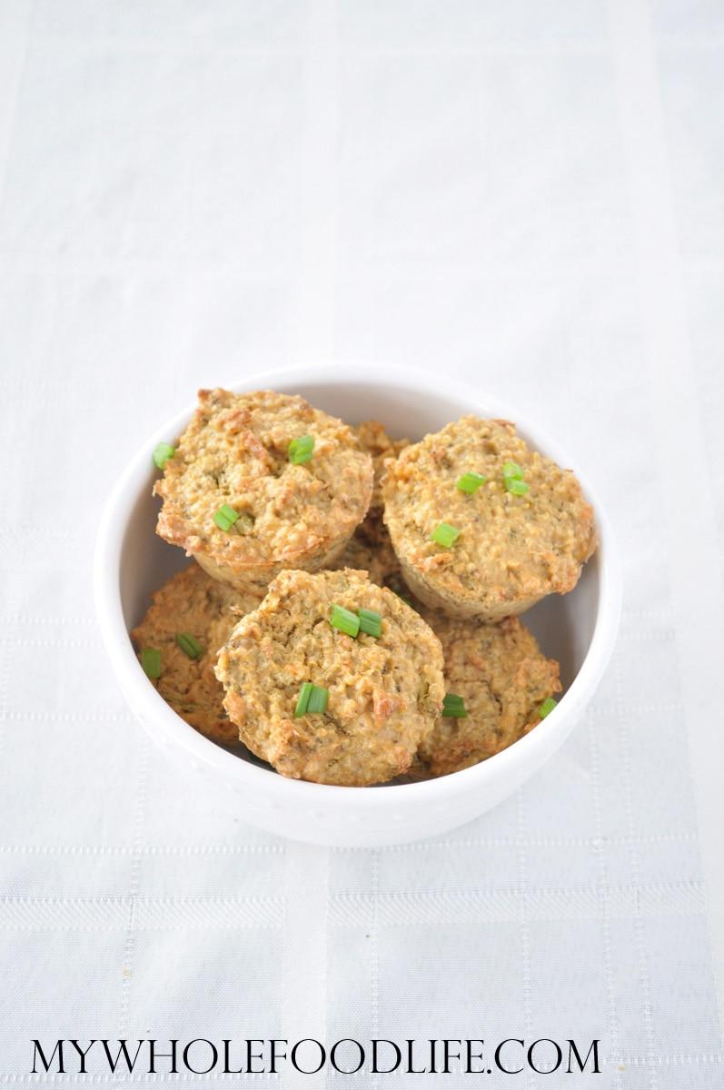 Broccoli Cheese Quinoa Bites- My Whole Food Life