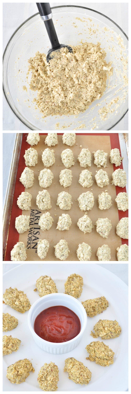 Cauliflower Tots Steps