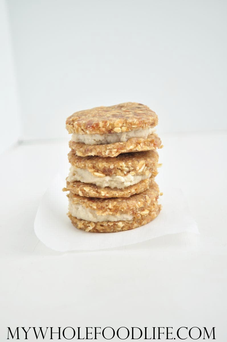 Raw Oatmeal Cream Pies - My Whole Food Life
