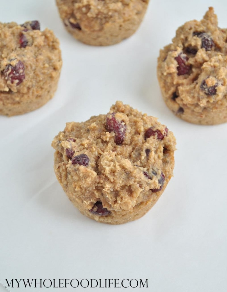 Almond Butter Cranberry Muffins - My Whole Food Life
