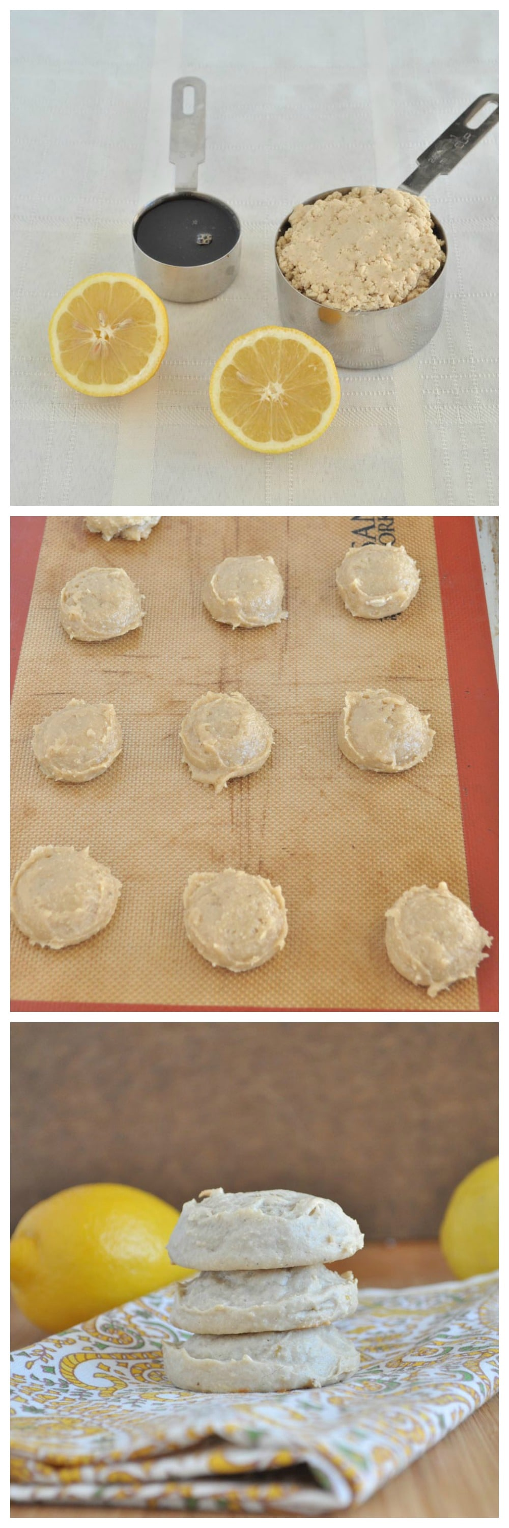 Flourless Lemon Cookies Steps